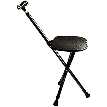 Amazon Com G Amp M Walking Cane Seat Folding Walking Stick