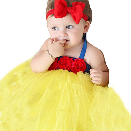 Mini Kitty Girls Snow White TuTu Dress Hand-made Cute Infant Dress(0-4years) (Mini Moon Child Costume)