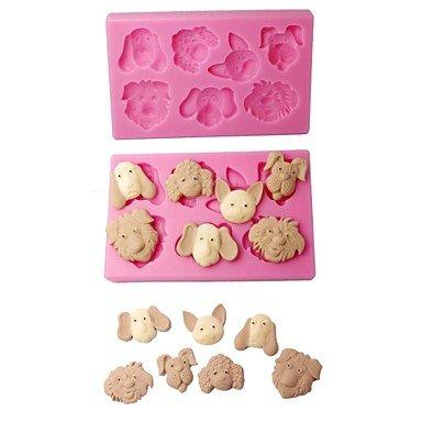 HJLHYL Chocolate Moulds 3D Farm Animals Fondant Molds Color Pink