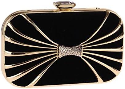 ファッションと組み合わせたクラッチ、財布、ダイヤモンドのハードシェル小さな正方形のバッグ中空のイブニングバッグ(色:黒) 美しいファッション