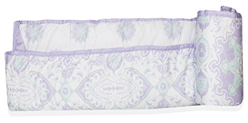 Wendy Bellissimo Crib Teething Guard Reversible Rail Guard Medallion Pattern from the Anya Collection in Lavender and Grey by Wendy Bellissimo (Image #3)