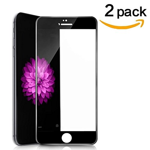 [2 Pack] iPhone 6s 6 Screen Protector, RHESHINE 6s 6 Tempered Glass 3D Touch Layer Full Coverage Scratch-Resistant No-Bubble Glass Screen Protector iPhone 6s / iPhone 6 4.7 (Black)