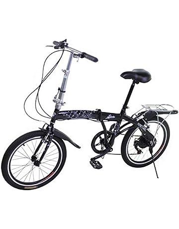 Riscko Metric Bicicleta Plegable Unisex con Ruedas de 20 Color Negro