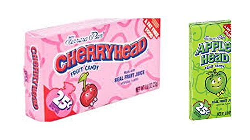 Lemonhead Candy Variety Bundle, 1.08 oz mini box (Pack of 12) includes 6-Boxes Cherryhead + 6-Boxes Applehead (12 TOTAL BOXES)