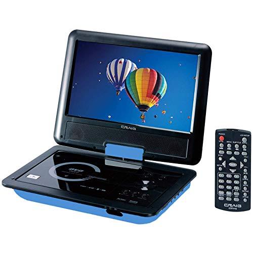 "Craig CTFT713 180° Swivel Screen 9"" Portable DVD Player w/SD Card Slot - Blue"