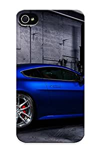 New Aston Martin Vehicles Cars Blue Tuning Wheels Garage Tpu Case Cover, Anti-scratch 3787782281 Phone Case For Iphone 4/4s With Design