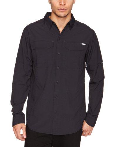 Columbia Mens Silver Ridge Long Sleeve Shirt, Black, Medium