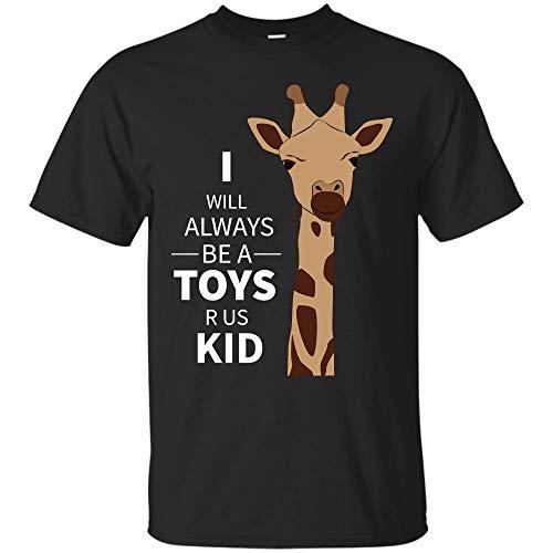 Crying Giraffe t Shirt i Will Always be a Toys r us Kid (Unisex T-Shirt;Black;2XL) -