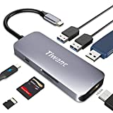 Premium HyperDrive USB C Hub, TIWANC 7-in-1 USB C Adapter with 4K HDMI Port, 3 USB 3.0 Ports, MicroSD/SD Card Reader, USB-C Charging Port for MacBook, iMac, Surface, Chromebook, Galaxy, XPS and More