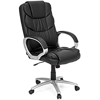 best choice products ergonomic pu leather high back executive office chair black