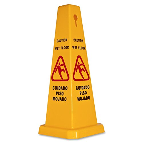 Genuine Joe Four Sided Safety Cone-Safety Cone, 4-Sided, 10