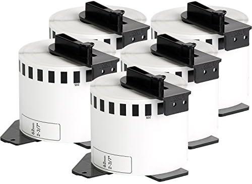 Doree DK-22205 DK22205 Rotolo di etichette compatibili con Brother P-Touch QL-500 QL-500A QL-500BS QL-500BW 10 rotoli