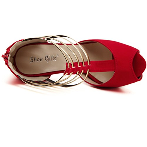 De Bout Poisson Escarpins 14 Hauts Businesse Talons Éclaire Femme Rouge Tête Plateforme À Cm Lacet Chaussure Boucle Casual Fanessy Ouvert Sandales 4 Soirée Élégant Mariage Fremeture 6WcBO5wBq