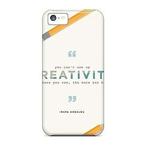 Unique Design Iphone 5c Durable Tpu Case Cover Maya Angelou Quote