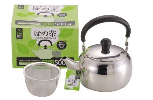Brown stainless steel vine with teapot 500ml H-6401 most of Pearl metal (japan import)