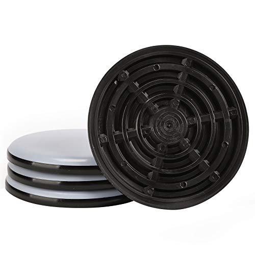Furniture Sliders, CO-Z Reusable Round Movers for Heavy Furniture for Carpet (4 Pack, 3.9 inch) - with Anti-Skid Slot Design