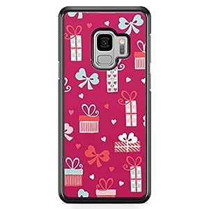 Samsung S9 Transparent Edge Case Valentines Love Flower Bouquet Heart Pattern Cute Design Low Profile Scratch Resistant Samsung S9 Transparent Edge Cover