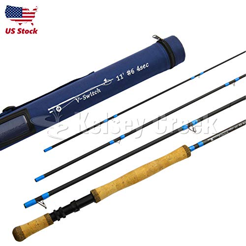 Maxcatch Switch Rod 10.5ft-11.5ft, 5wt-9wt, Carbon Fiber flly Fishing Spey Rod (11' 7wt)