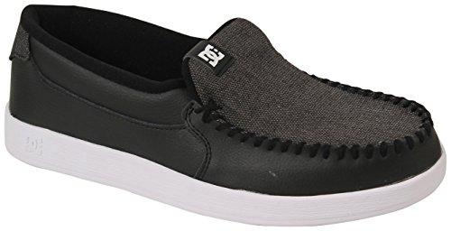 DC Shoes Mens Villain Slip On Shoes 301361, Black/White/Black, 14 -