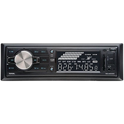 SOUNDSTORM ML40USA Single-DIN In-Dash Mechless Receiver