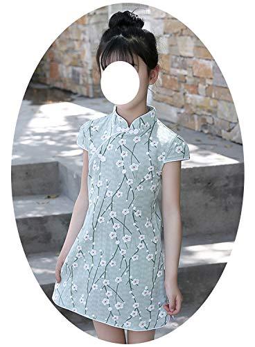Baby Girl Floral Dress Cheongsam Children Traditional Ancient Costume Summer -