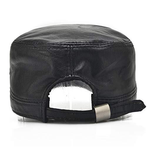 Sombreros Edad de Mediana la los Libre Viejos de hat de qin Superior de otoño al la Cuero Sombreros y Aire Sombreros el de Delgados Parte Primavera Cuero los Hombres Sombreros de Hombres de GLLH y Bfvqpzz