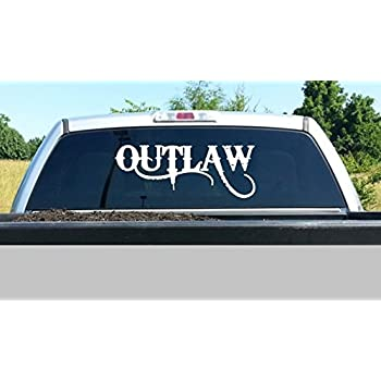 D1047 large outlaw vinyl decal sticker for car truck suv van boat trailer laptop window mirror