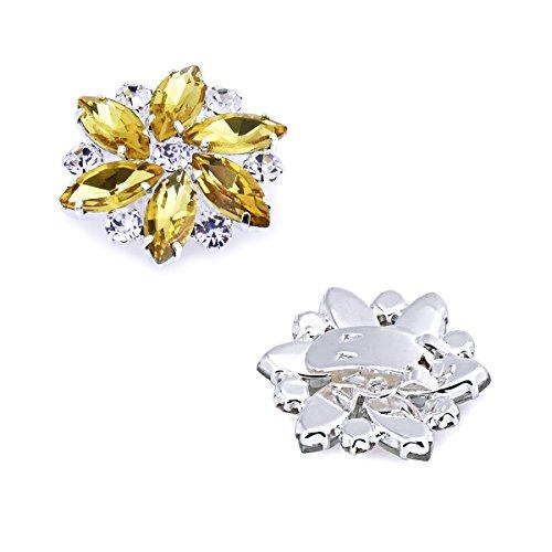 ElegantPark AJ zapatos de boda de vestir Accesorios Cristales Desmontable Verde zapato Clips 2 Pcs 2KSbK