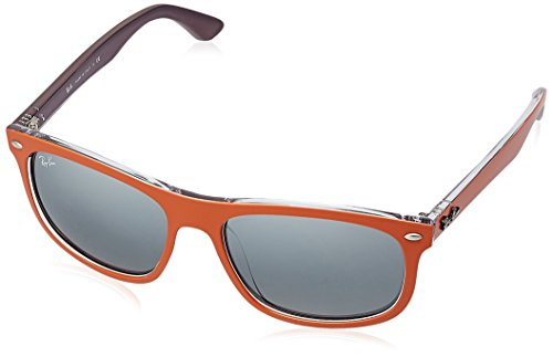 Ray-Ban INJECTED MAN SUNGLASS - TOP MAT ORANGE ON VIOLET Frame GREY MIRROR SILVER GRADIENT Lenses 56mm - Sunglasses Violet