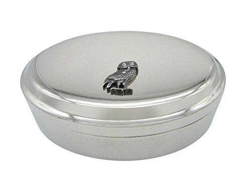 Owl of Athena Bird Pendant Oval Trinket Jewelry Box