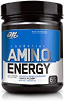 Optimum Nutrition Amino Energy Blue Raspberry Anytime Energy and Amino Acids, 65 Servings