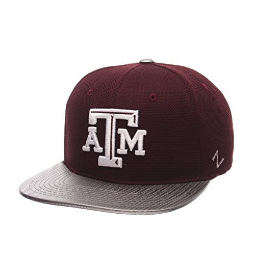 Zephyr NCAA Texas A&M Aggies Men's Composite Snapback Cap, Adjustable Size, Maroon (Flat A M And Texas Bill Cap)