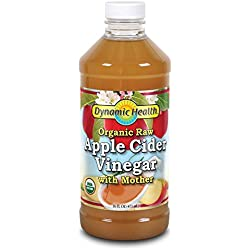 Dynamic Health Organic Cider Vinegar with Mother, Raw Apple, 16 Ounce