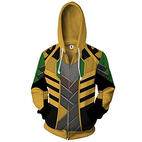 Super Hero Hoodie Super Hero Costume Creative Fashion Sweater Halloween Costume (L, Lo) -