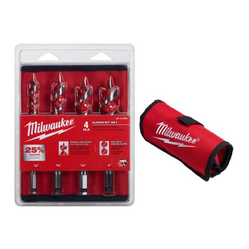 Milwaukee 48-13-4000 Auger Set, 4-Piece