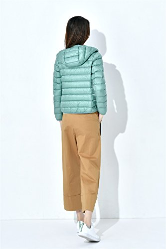 Puffer Coat Hooded Warm Tops Down Winter Jacket Rui Green Lightweight Packable YY Women's Down 6EXqxYw