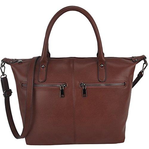 Handbags for Women, ZMSnow Designer Large Ladies Crossbody Bags Tote Purses(Coffee)