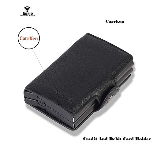 AE MOBILE ACCESSORIES PU Leather Unisex Card Holder (CH FC910_Black)