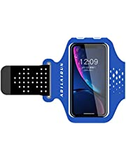 """Trendy generous super cute 6-inch Sports Mobile Phone Armbag Multi-Function Waterproof Running Cycling Armband,Size:4-6"""",Colour:Black (Color : Blue, Size : 4-6"""")"""