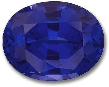7x5mm Oval Gem Quality Chatham Lab-Grown Blue Sapphire Weighs .95-1.17 Ct.