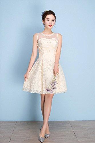 A Drasawee champagnerfarben Damen Kleid Linie xOwgZO