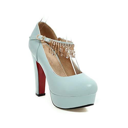 Sandales DGU00612 5 AN Femme Compensées 36 Bleu Bleu EU fOxq5xSw