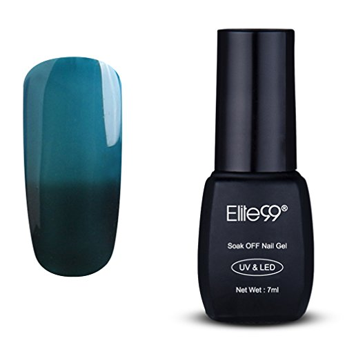 Elite99 Temperature Color Change Nail Polish, Thermal Color Changing UV LED Soak Off Nail Art Gel Polish, Professional Salon Manicure Pedicure 7ML 5747