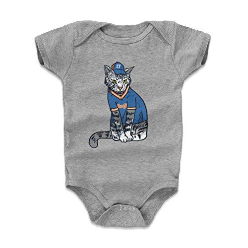 - 500 LEVEL Keith Hernandez New York Mets Baby Clothes, Onesie, Creeper, Bodysuit (18-24 Months, Heather Gray) - Keith Hernandez Hadji Jersey B WHT