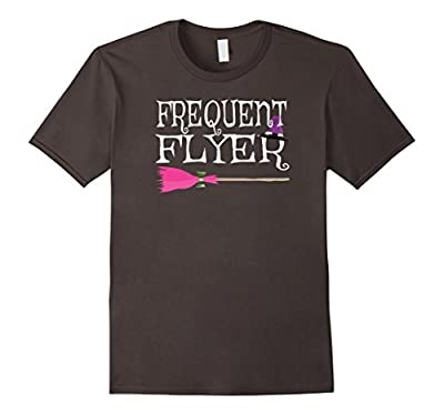 Frequent Flyer Witch Funny Cute Halloween Tshirt Women
