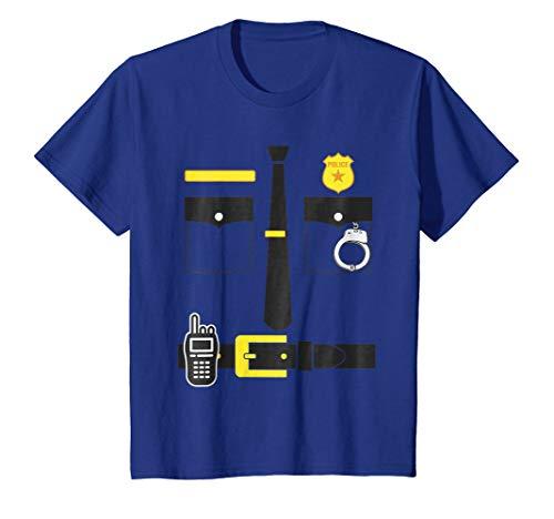 Kids Kids Police Policemen Shirt Halloween Costume tshirt Badge 12 Royal Blue -