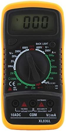 XL830L Multim/ètre AC//DC num/érique LCD Volt Amp Ohm Voltm/ètre Amp/èrem/ètre Protection contre les surcharges avec sonde