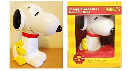 Snoopy and Woodstock Ceramic Coin Bank 8.5