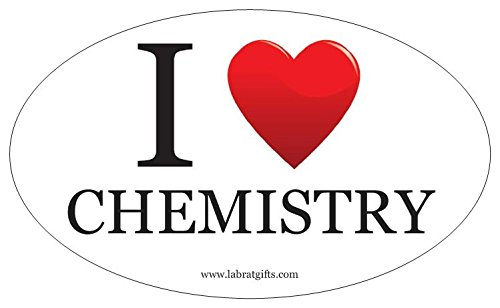 Science ThemedI Love Chemistry Oval Sticker
