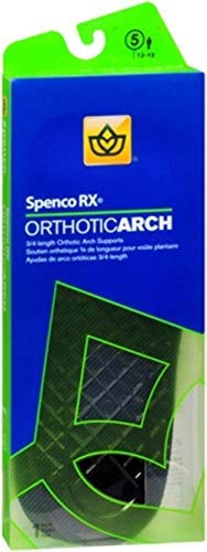 Spenco RX 3/4 Length Orthotic Arch Supports Size 5 1 Pair (Pack of 3) by Spenco